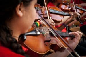 Orquestra em apresentação no Museu Érico Veríssimo/ Foto:  Foto Guga Marques-CEEE
