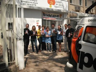 Equipe do ICI-RS, Iper Imóveis e Parmalat./ Foto: Bruna Souza-Linklar