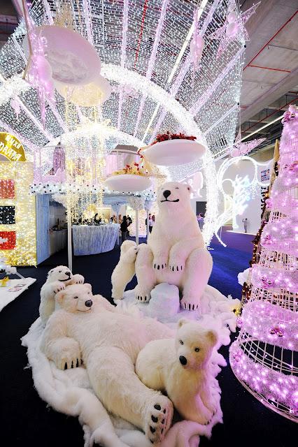 Se o branco é a aposta deste ano os ursos polares não poderiam faltar./Foto: divulgação