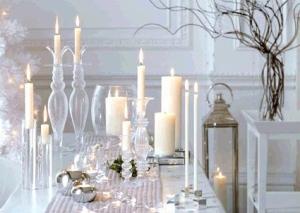 O branco traz a elegância à decoração natalina, neste 2012/ Foto: Design Innova