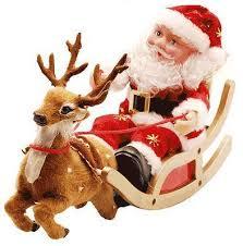 Papai Noel e a sua rena prontos para ganhar os céus./ Foto: Cultura Mix