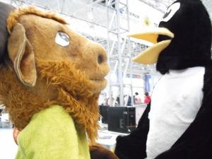 Mascotes fizeram sucesso/Foto:Bruna Souza